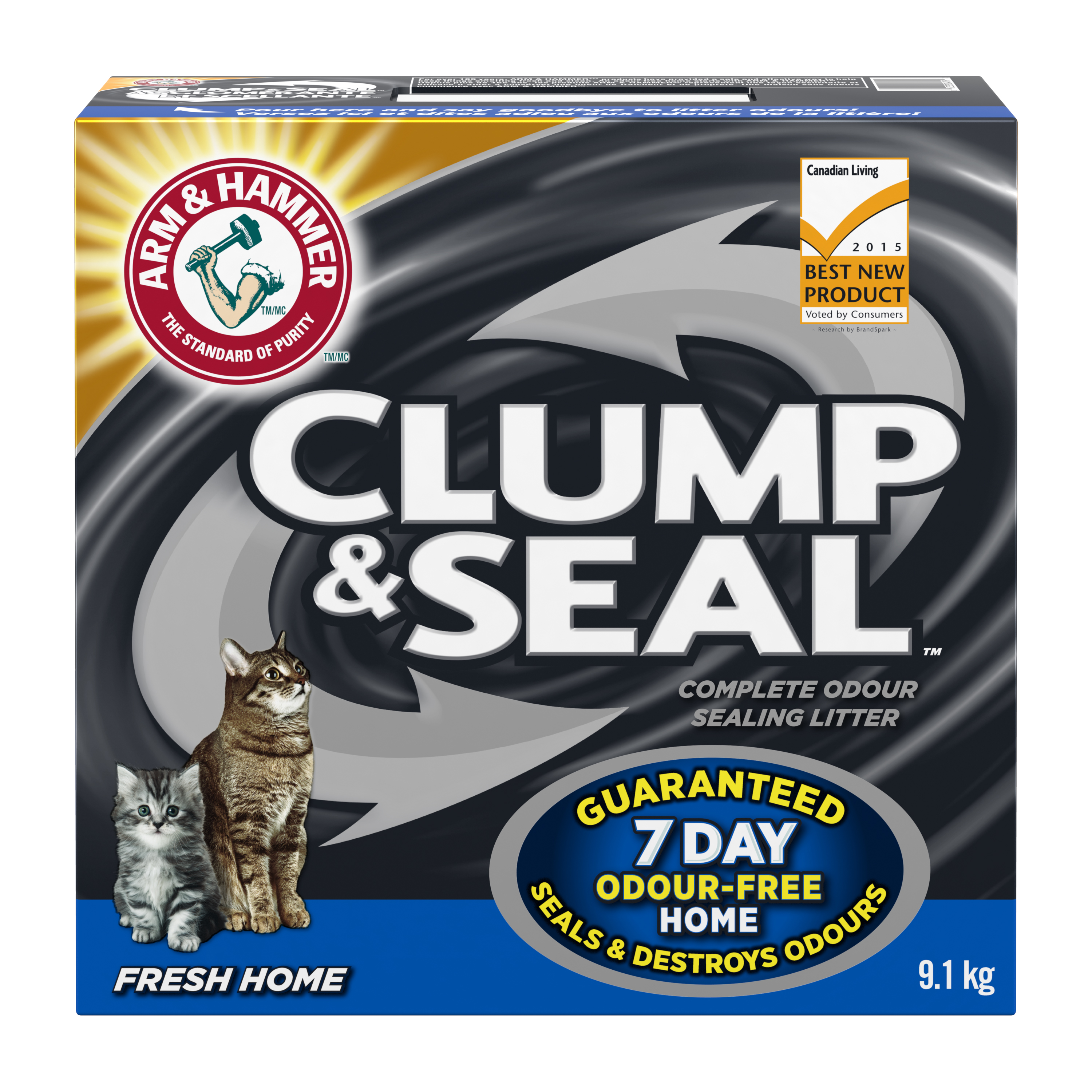 Clump & Seal™, Complete Odour Sealing Clumping Litter, Fresh Home