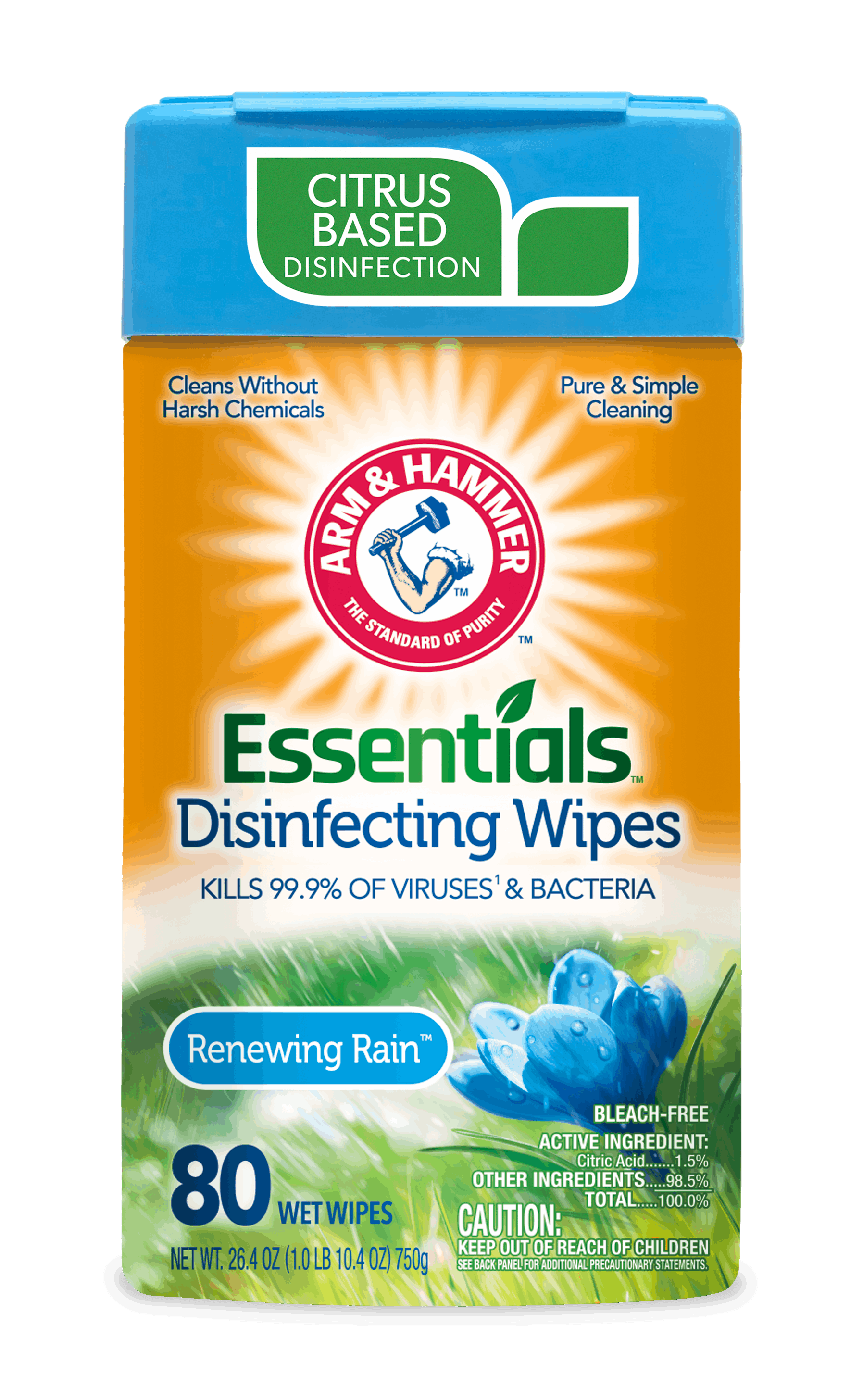 Arm and Hammer Essentials Disinfecting Wipes